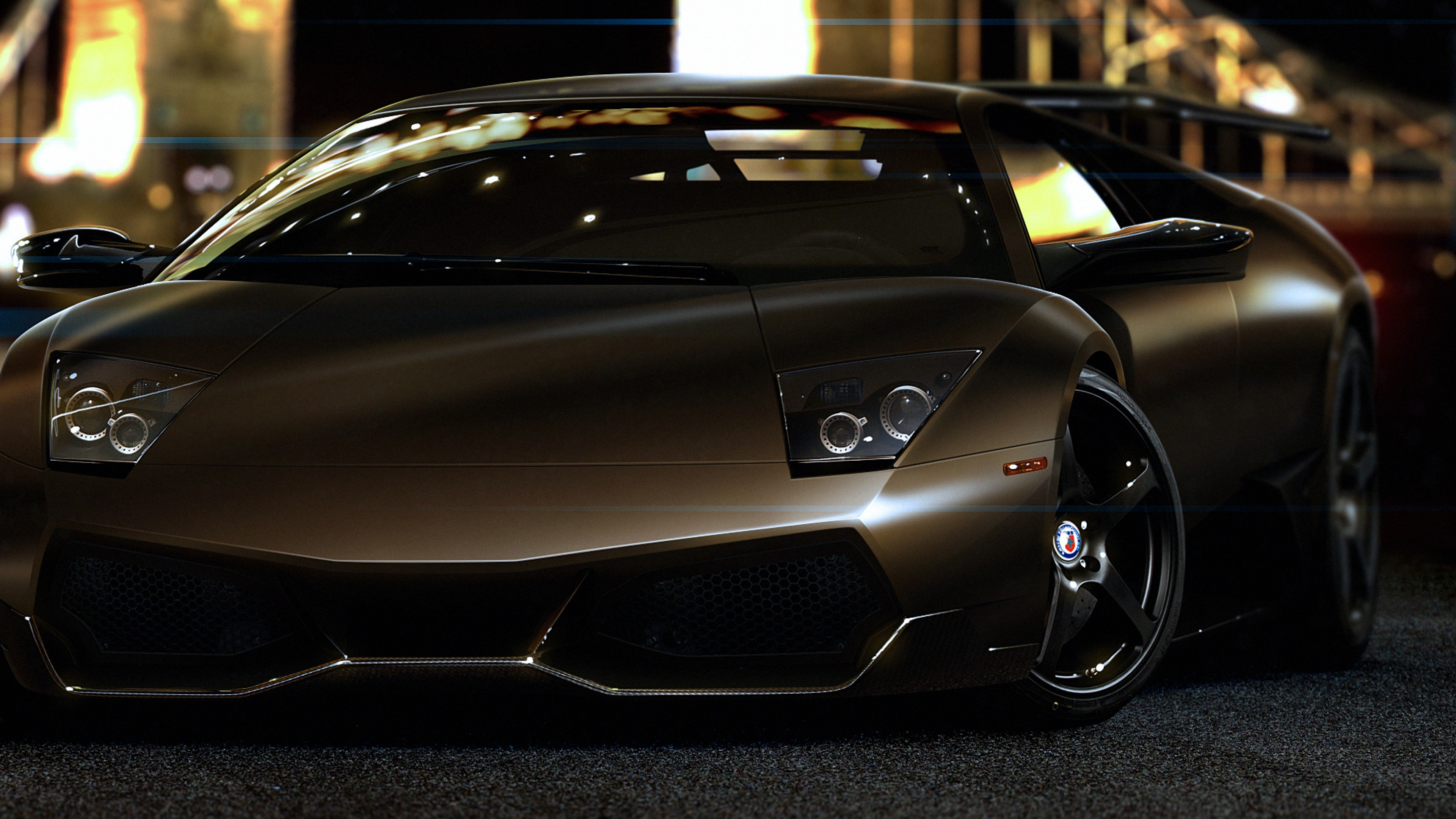 Wallpaper Lamborghini Murcielago Supercar Brown