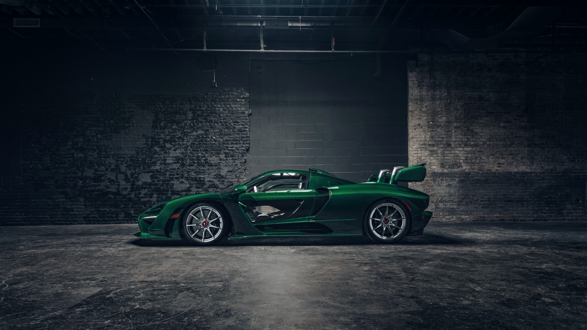 Wallpaper Mclaren Senna Gtr Green Carbon Supercar 2018