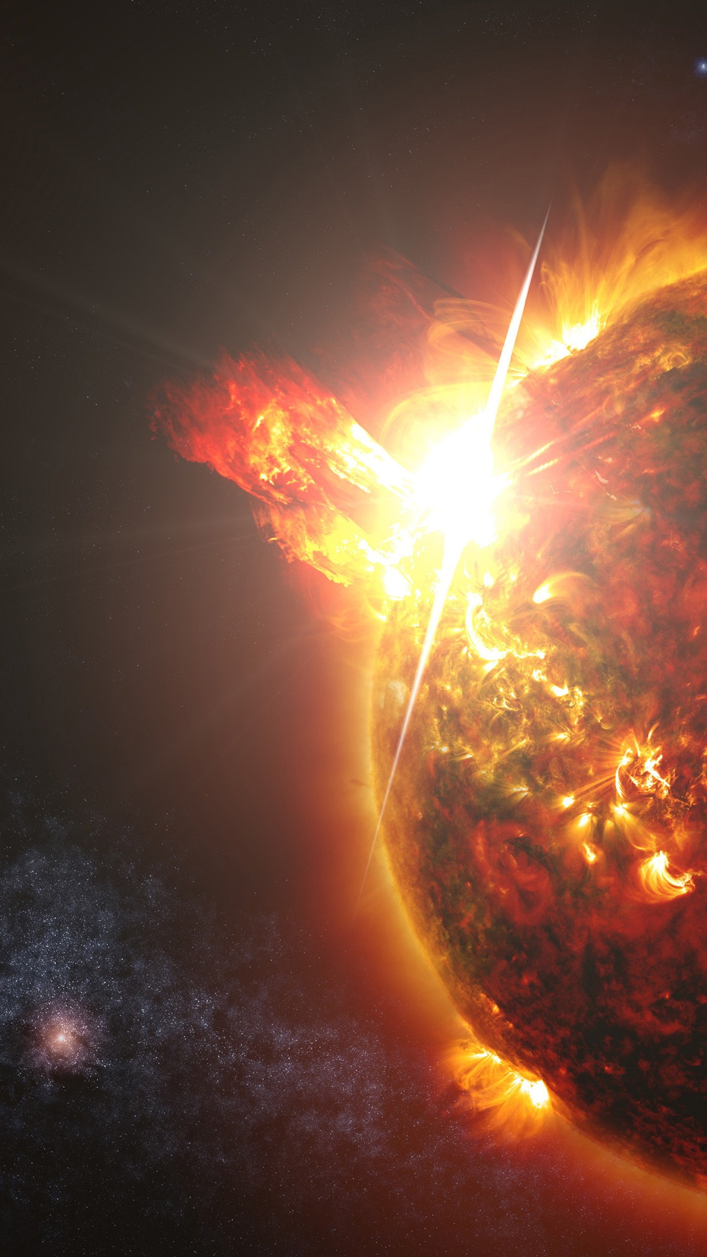 Wallpaper Space Fire Planet Exoplanet Planet Space
