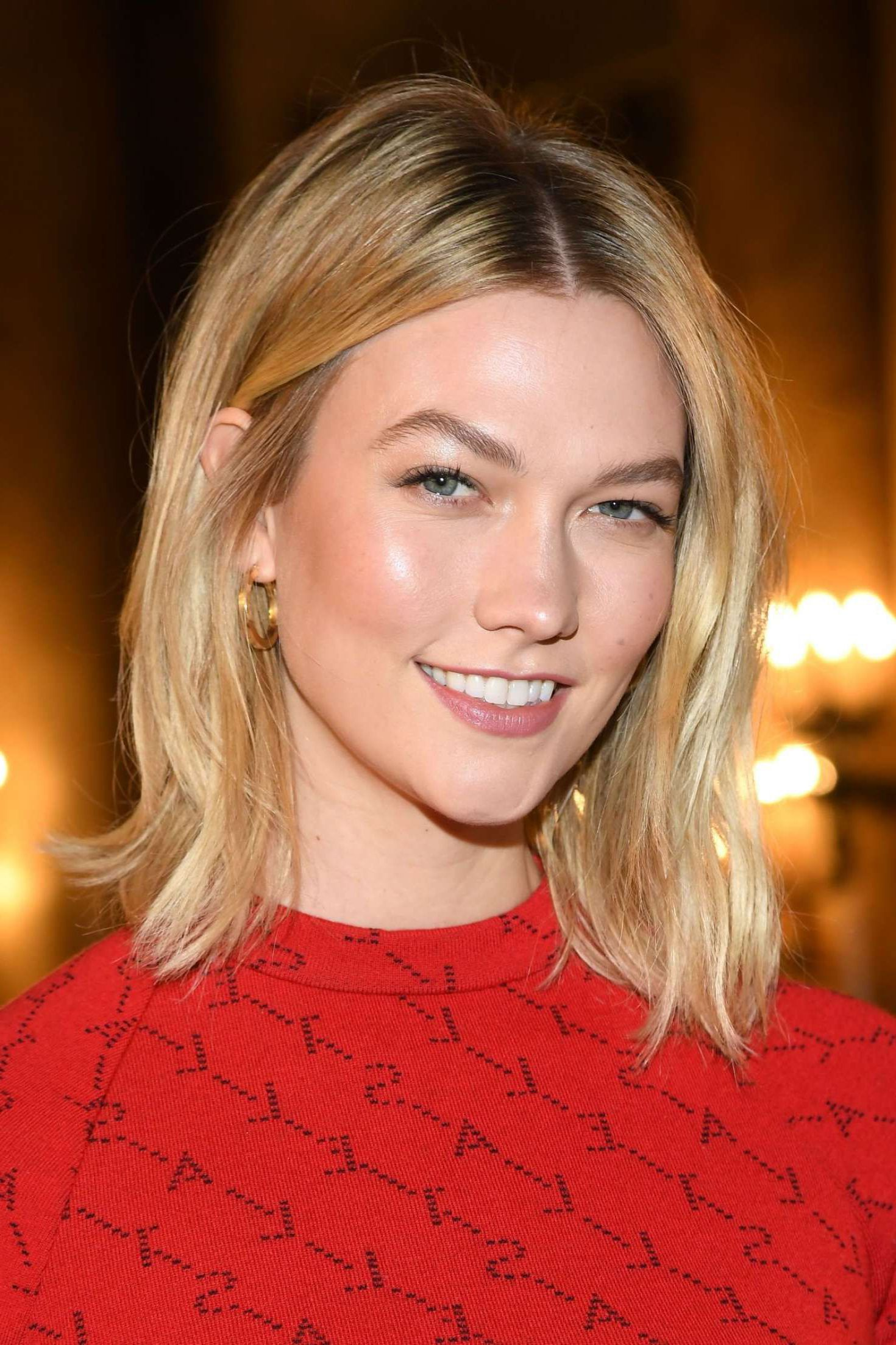 Karlie Kloss In Red Long Dress At The Stella Mccartney