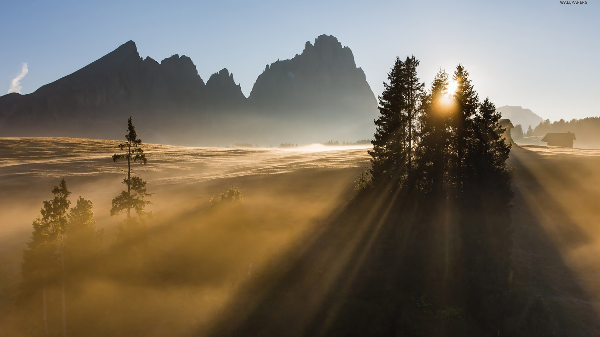 1920x1080 Sunrise Dolomites Desktop Pc And Mac Wallpaper