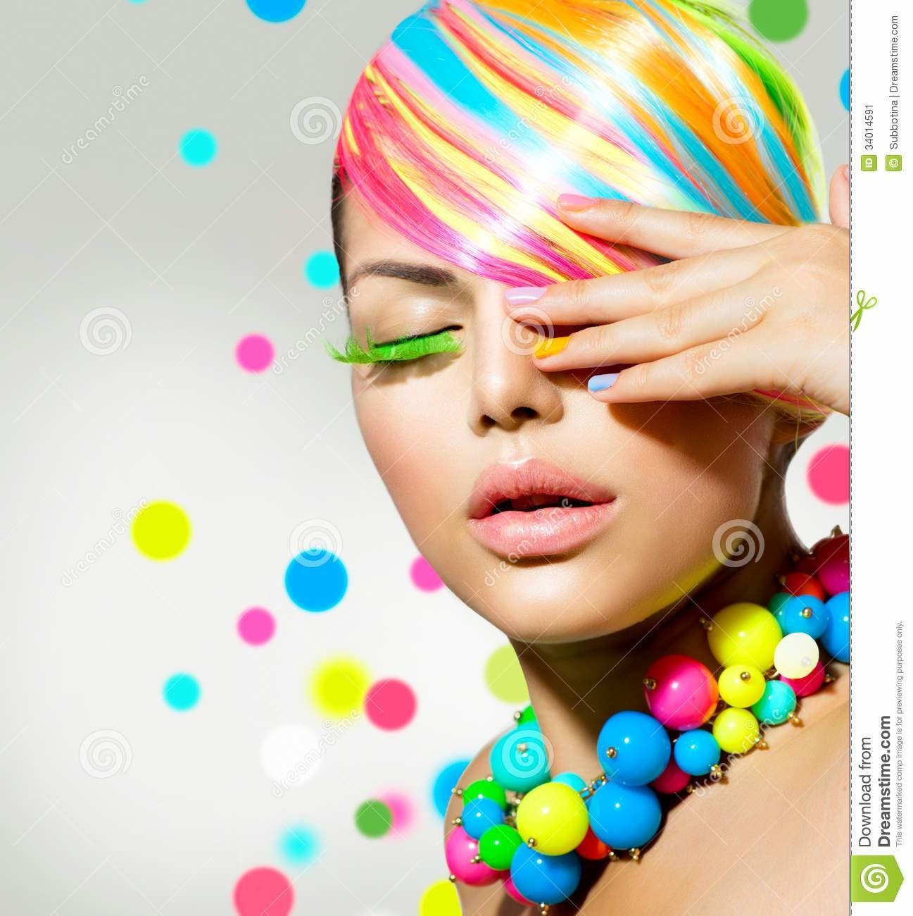 New Beauty Girl With Colorful Makeup Stock Image Image Of Ideas With Pictures