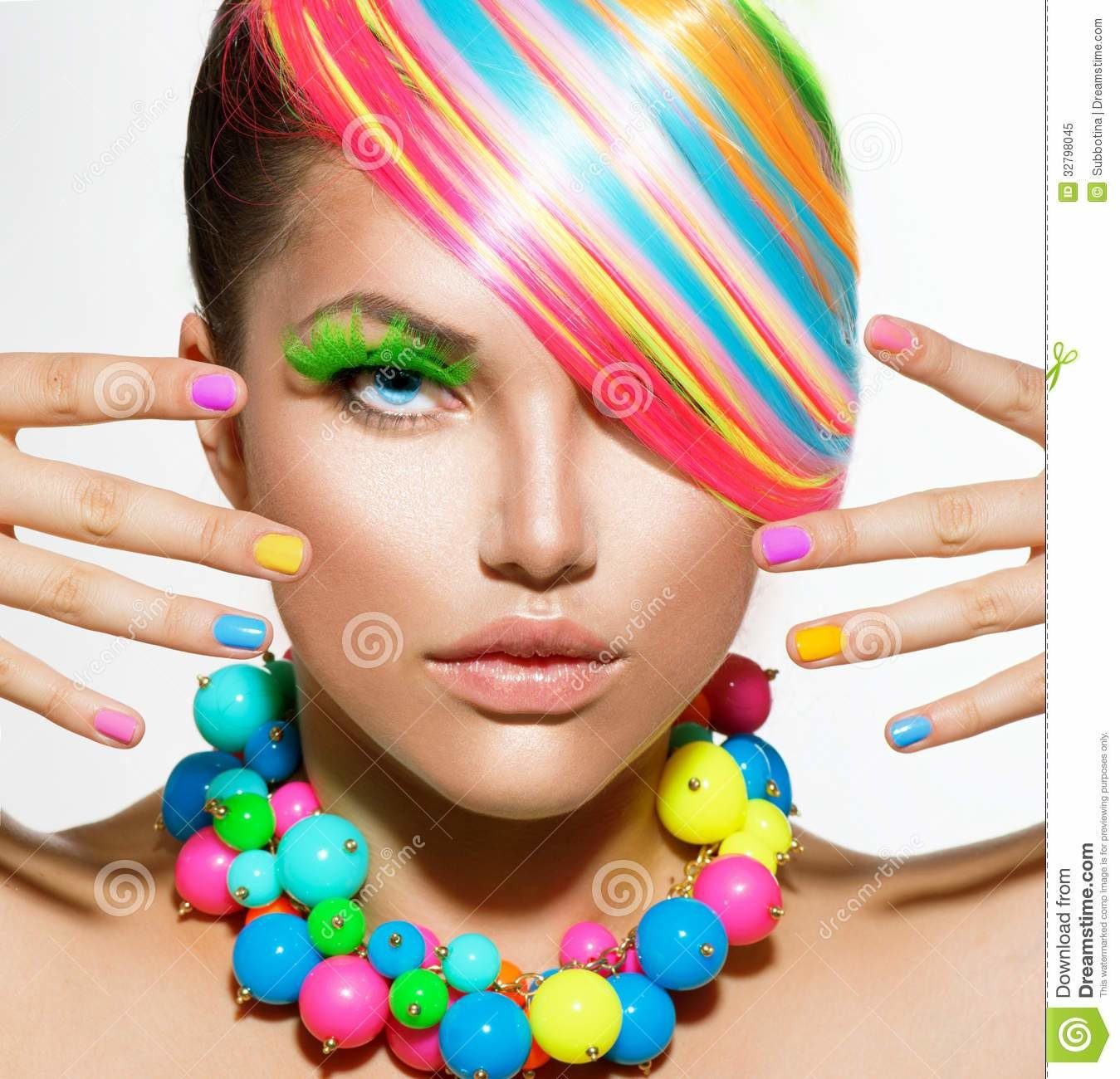 New Girl Portrait With Colorful Makeup Royalty Free Stock Ideas With Pictures