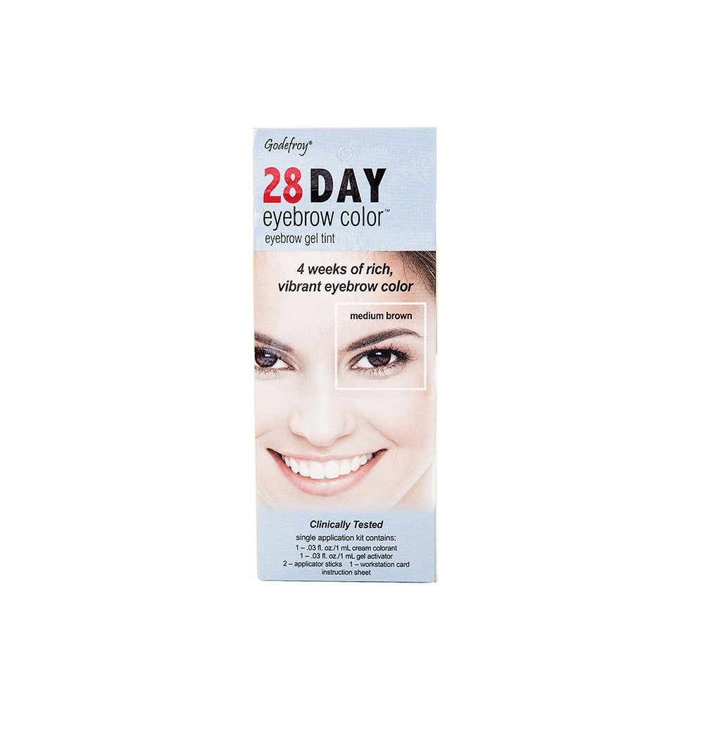 New Godefroy 28 Day Eyebrow Color Tint Medium Brown Rite Aid Ideas With Pictures