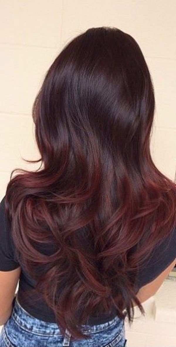 New 49 Of The Most Striking Dark Red Hair Color Ideas Ideas With Pictures