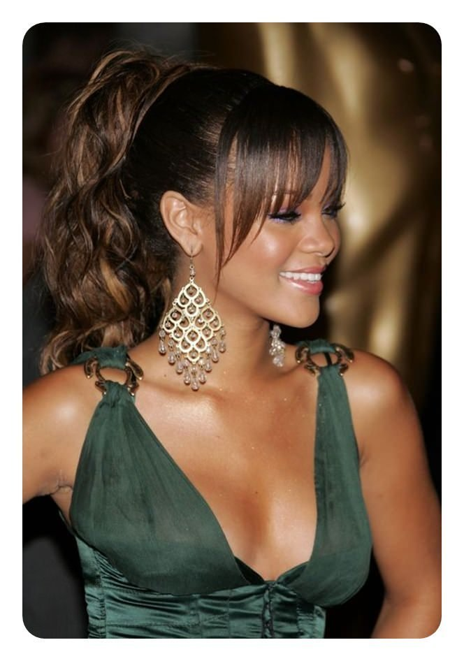 New 97 Amazing Ponytail With Bangs Hairstyles Ideas With Pictures
