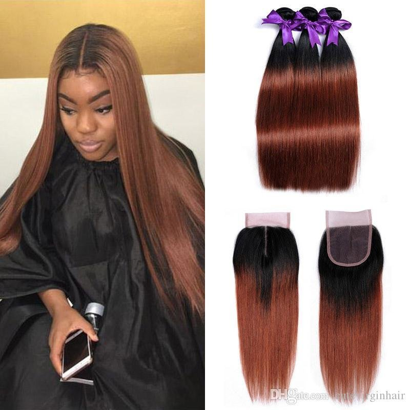 New 2018 Malaysian Ombre 1B 33 Two Tone Color Straight Human Ideas With Pictures