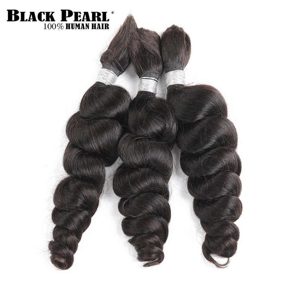 New Black Pearl Pre Colored Brazilian Hair Bundles Loose Wave Ideas With Pictures