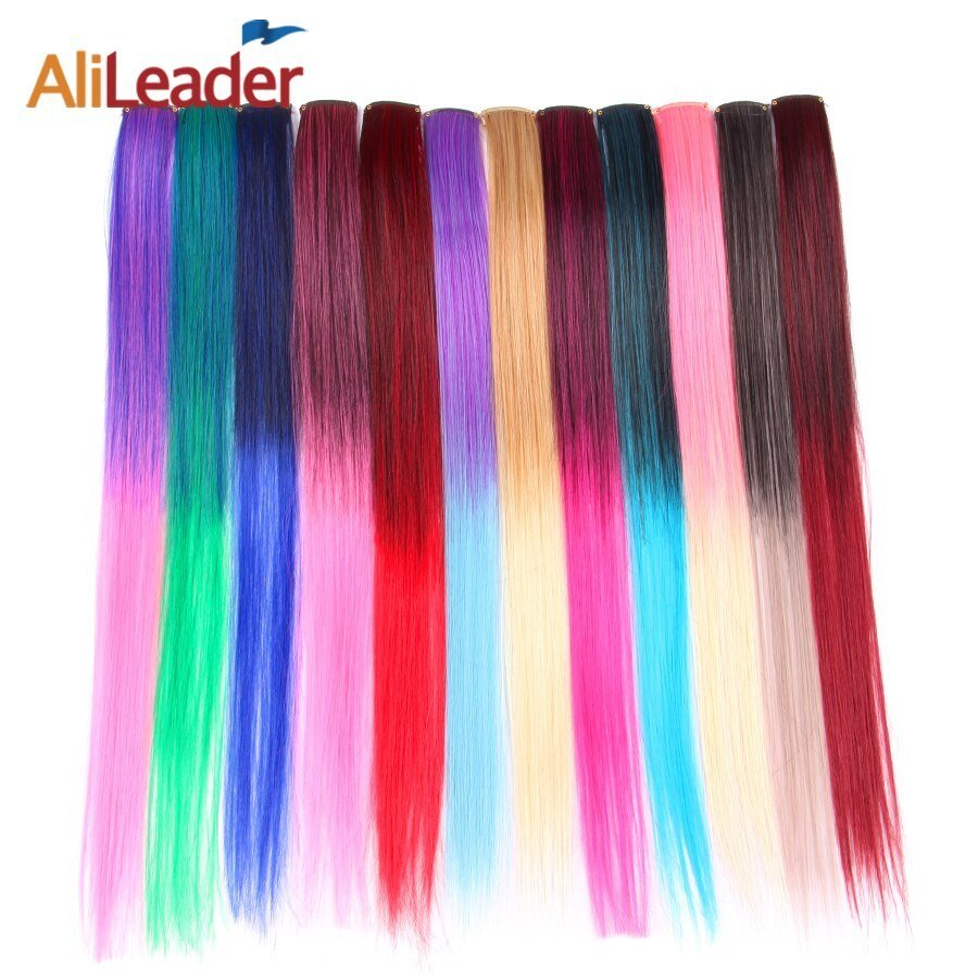 New Alileader 12 Colors Lot Ombre Clip In Hair Extensions Long Ideas With Pictures