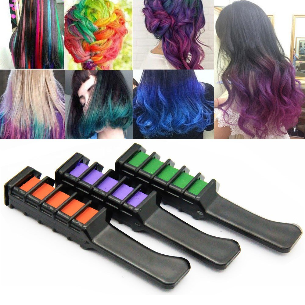 New 6 Colors Set Hair Dye Brush Hair Care Temporary Hair Dye Ideas With Pictures