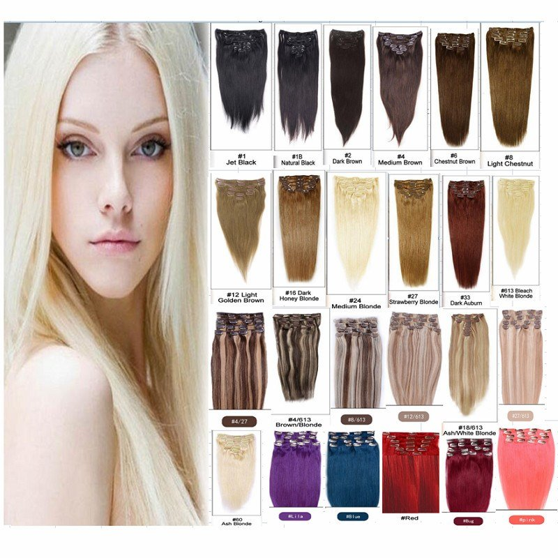 New Brazilian Hair Color Clip Ins In Humain Hair Extensions Ideas With Pictures