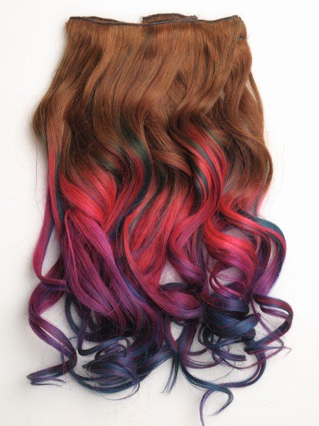 New Colorful Indian Remy Clip In Hair Extensions Cs3001 Ideas With Pictures