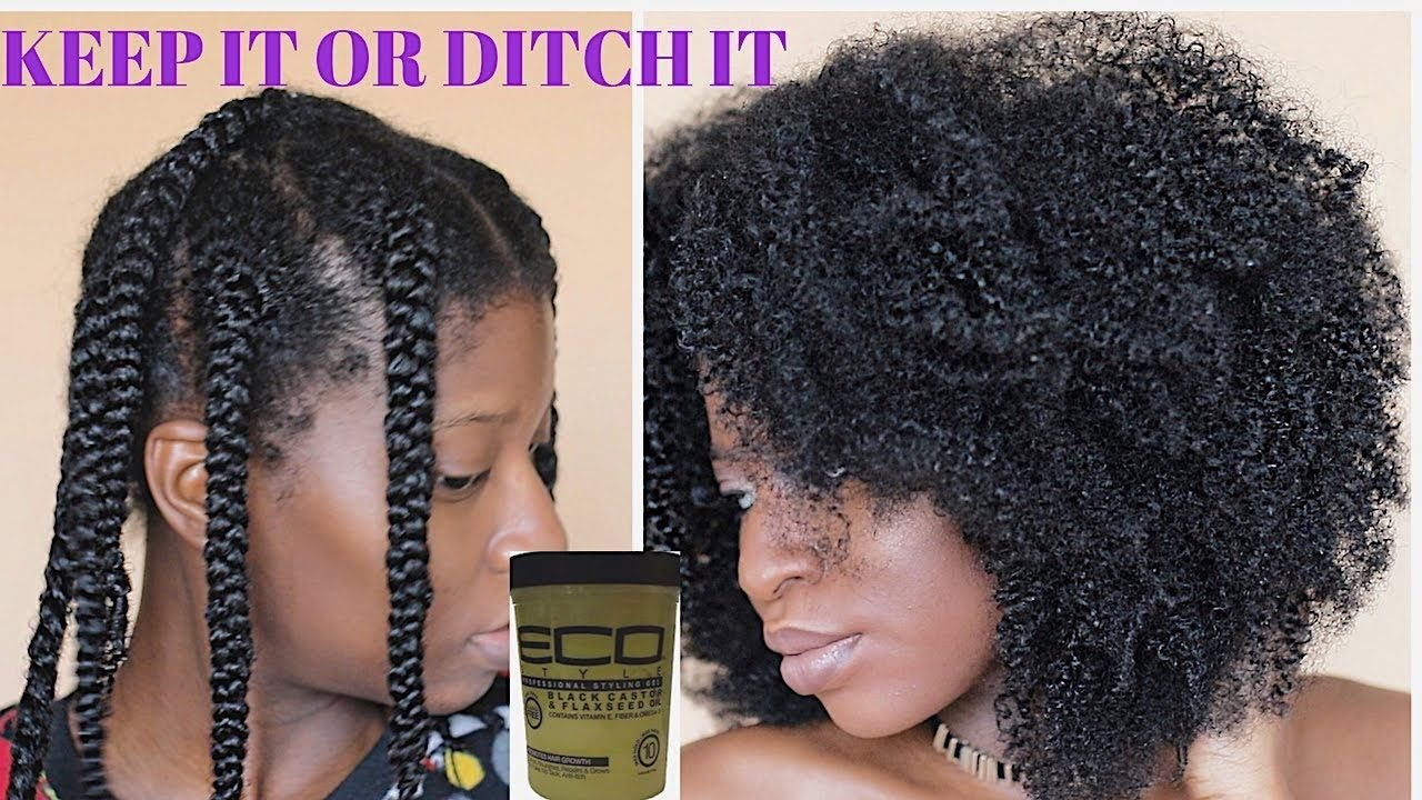New Braidout Using New Eco Styler Black Castor Flaxseed Oil Ideas With Pictures