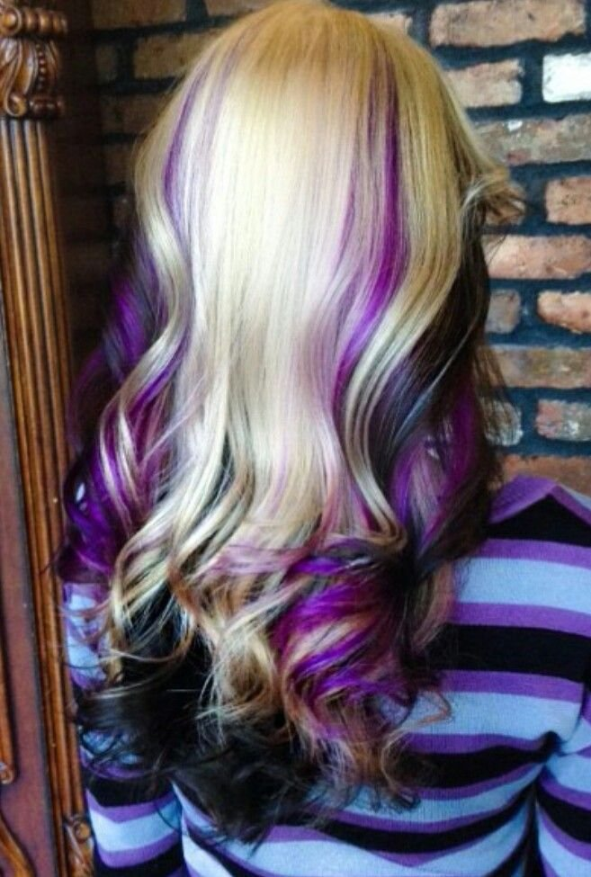 New Blonde Purple Black Hair Hair Med Long Hair Ideas With Pictures