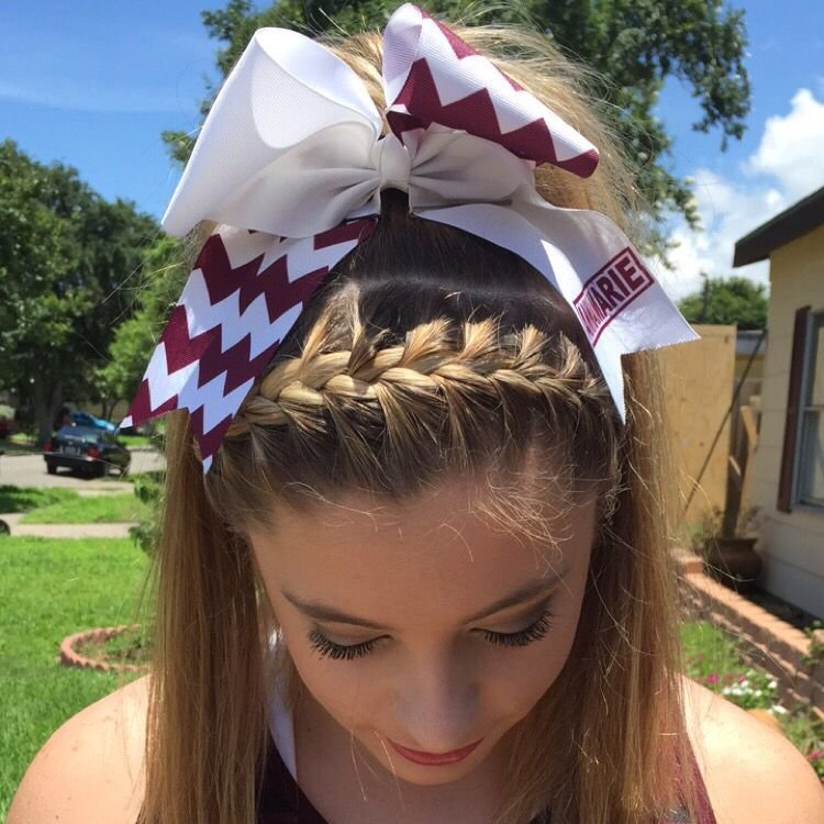 New Braided High Pony Tail Cheer Hair Followed With A Ideas With Pictures