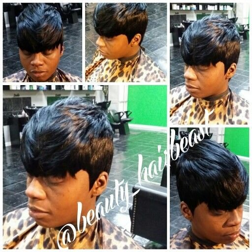New Quickweave 27 Piece With Bangs Quickweaves Edgy Short Ideas With Pictures