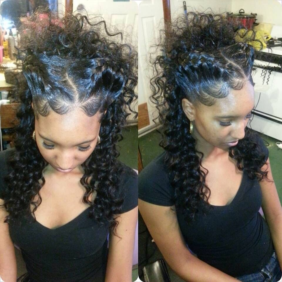 New Goddess Braid Updo Nice Even If U Have A Weave With A Part In The Middle This Will Be A Nice Ideas With Pictures