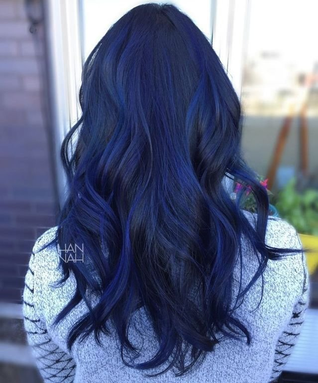 New Blue Sapphire Balayage Fancyfollicles Hair Dyed Hair Ideas With Pictures