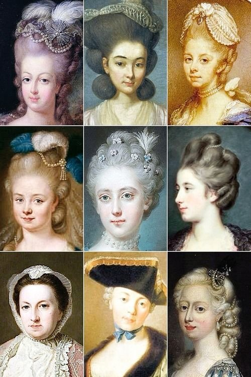 New 18Th Century Woman's Hairstyles Bottom Right Corner 5 Ideas With Pictures