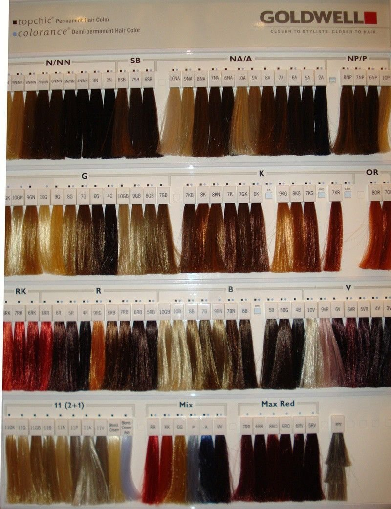 New Goldwell Color Chart Cheveux Hair Color Swatches Ideas With Pictures