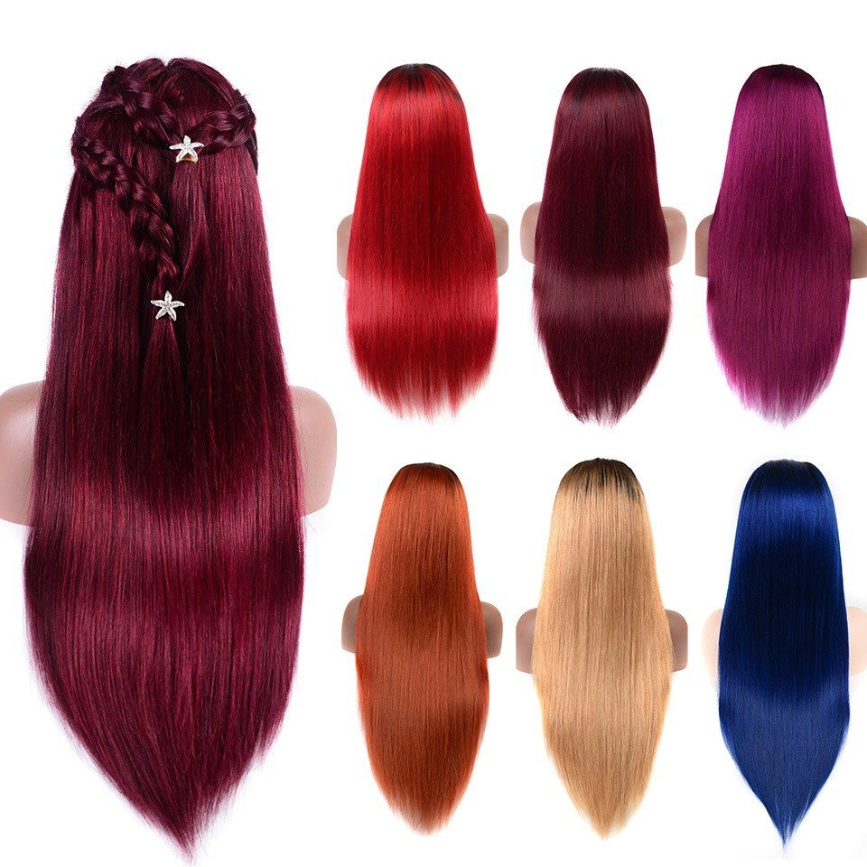 New Human Hair Color Wigs Slightly Bleached Knots Straight Ideas With Pictures