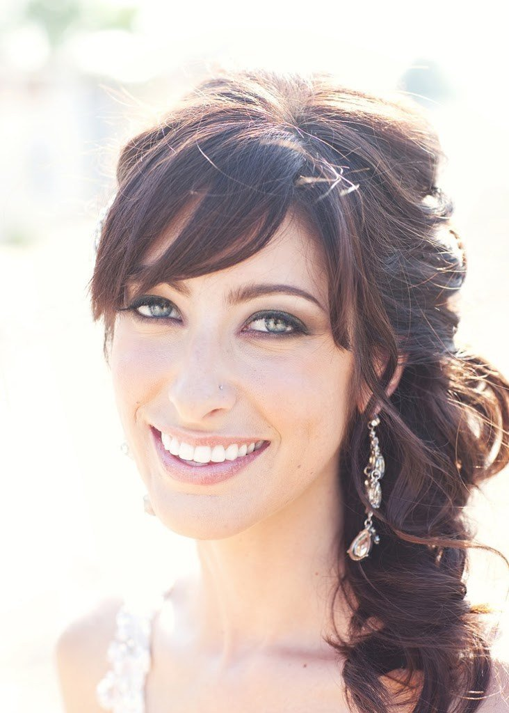 New 47 Beautiful Half Up Half Down Hairstyles With Bangs Ideas With Pictures