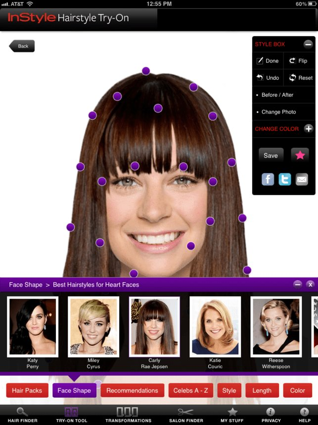 New Instyle Hairstyle Try On On The App Store Ideas With Pictures