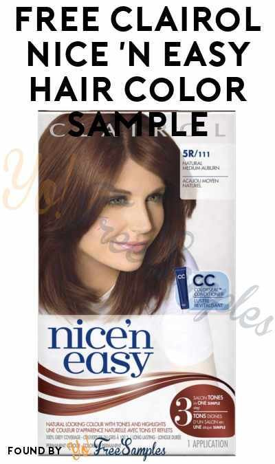 New More In Stock Free Clairol Nice N Easy Hair Color Sample Ideas With Pictures
