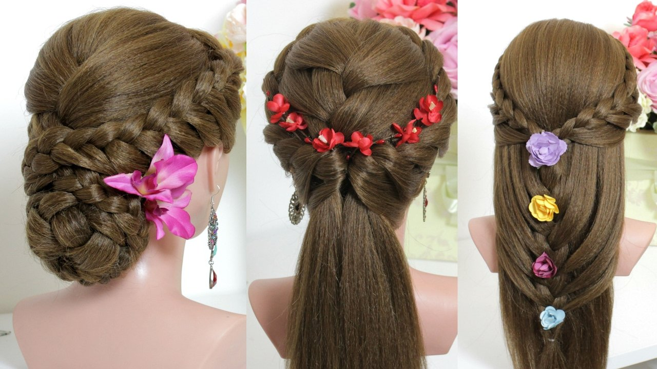 New 3 Easy Hairstyles For Long Hair Tutorial Youtube Ideas With Pictures