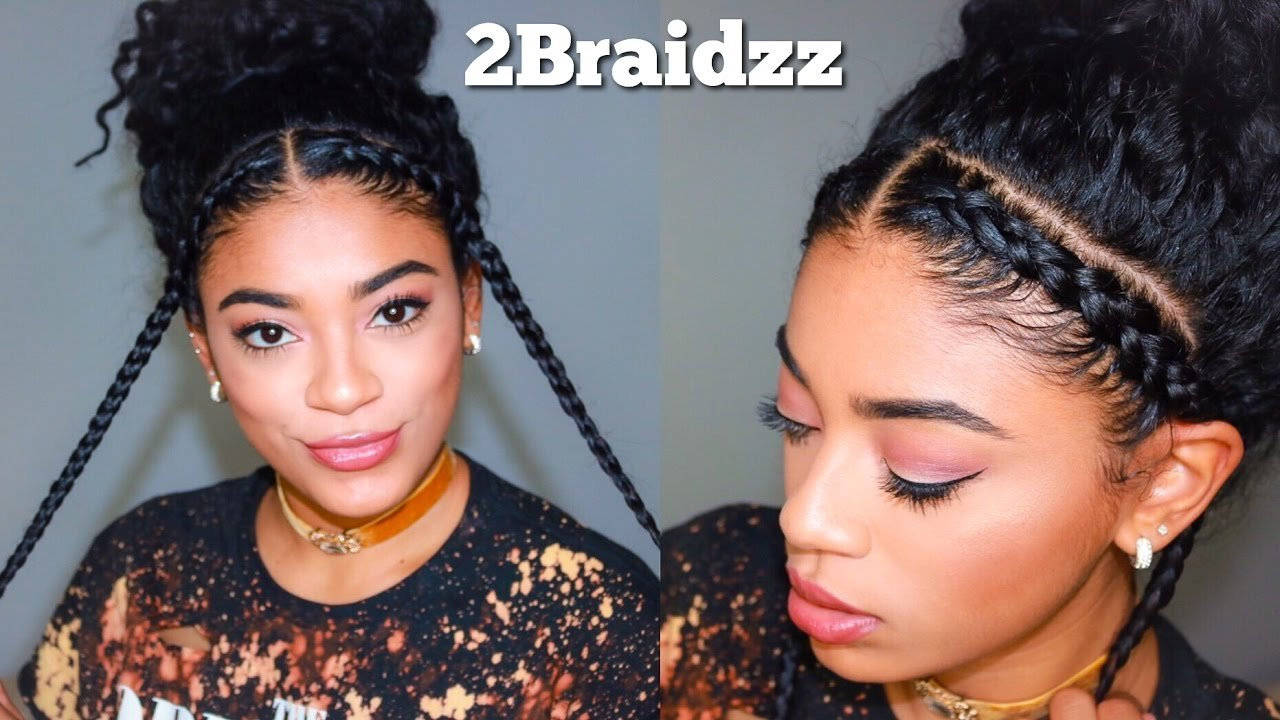 New Two Braid Hairstyles Natural Curly Hair Jasmeannnn Ideas With Pictures