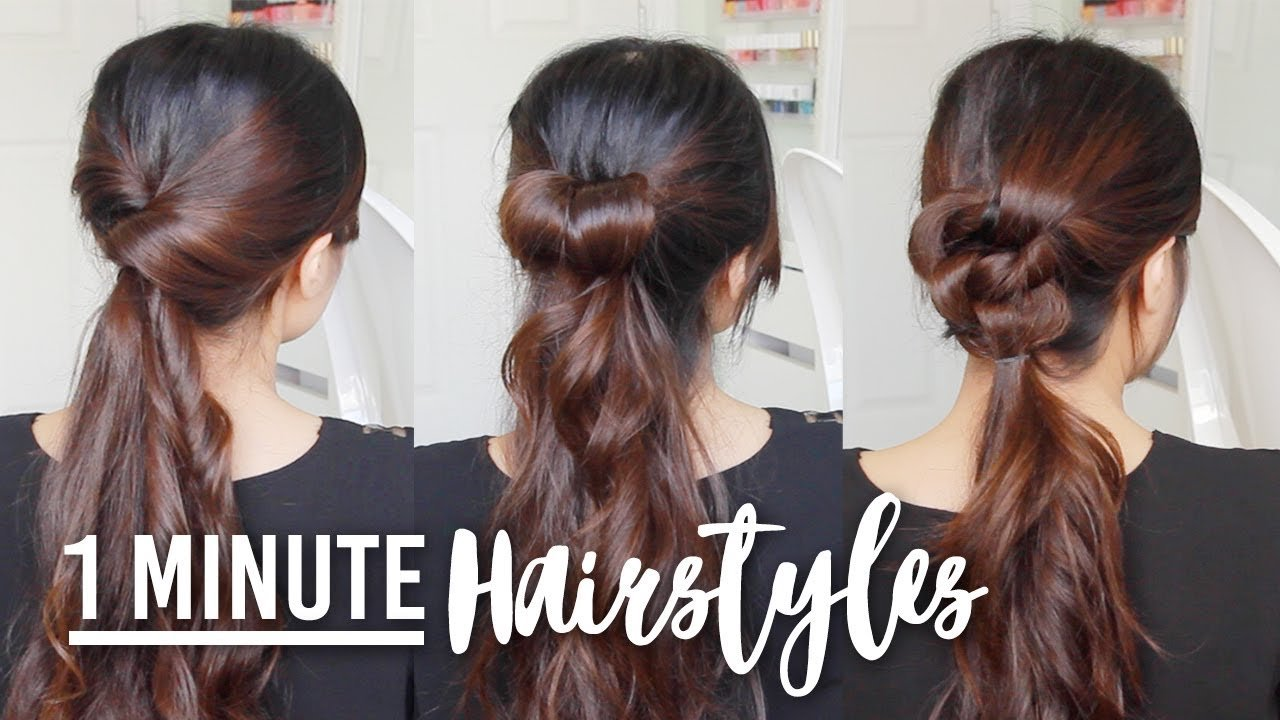 New 1 Minute Running Late Hairstyles Quick Easy Hair Ideas With Pictures Original 1024 x 768