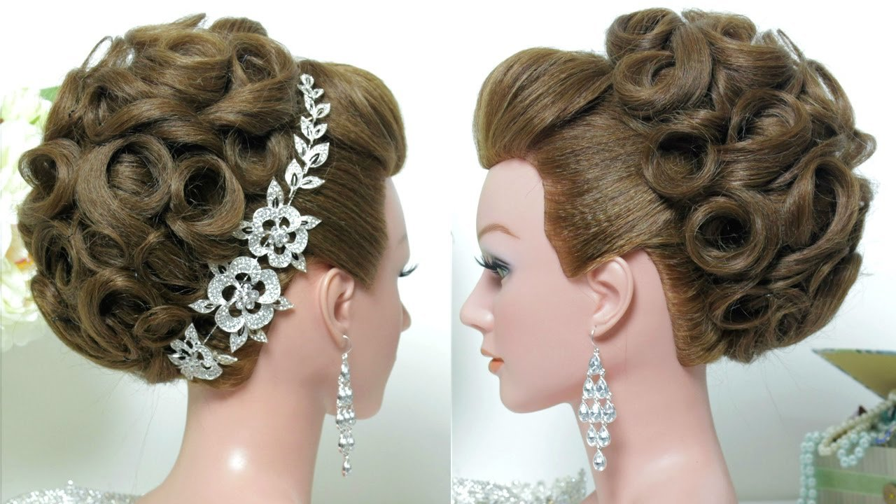 New Bridal Hairstyle Wedding Updo For Long Hair Tutorial Ideas With Pictures