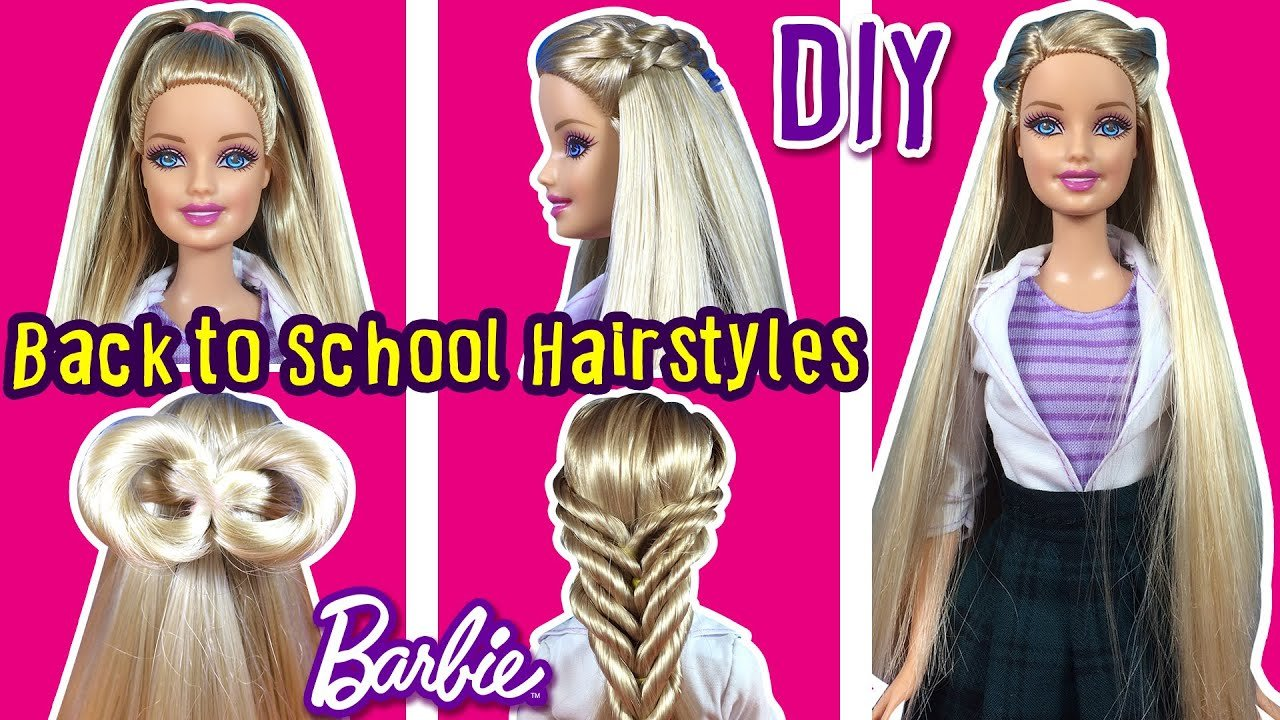 New Back To School Hairstyles Of Barbie Doll Diy Barbie Hair Ideas With Pictures Original 1024 x 768