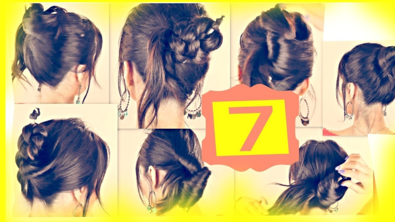 New Seven ★ 1 Minute Hairstyles With Just A Pencil Easy Updo Ideas With Pictures