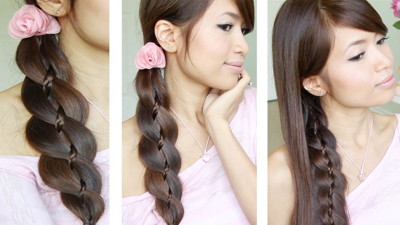 New Unique 4 Strand Braid Braid In Braid Hairstyles For Ideas With Pictures