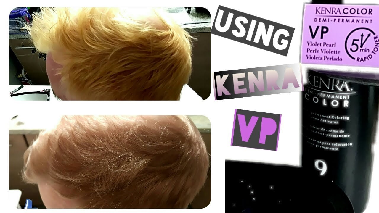 New Kenra Vp 5Min Hair Color Toner On My Boyfriend S Hair At Ideas With Pictures