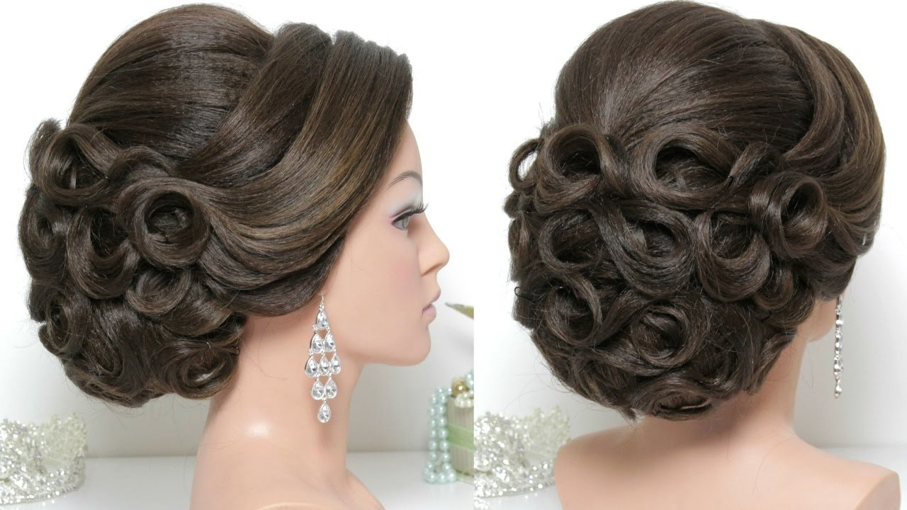 New Bridal Hairstyle For Long Hair Tutorial Updo For Wedding Ideas With Pictures