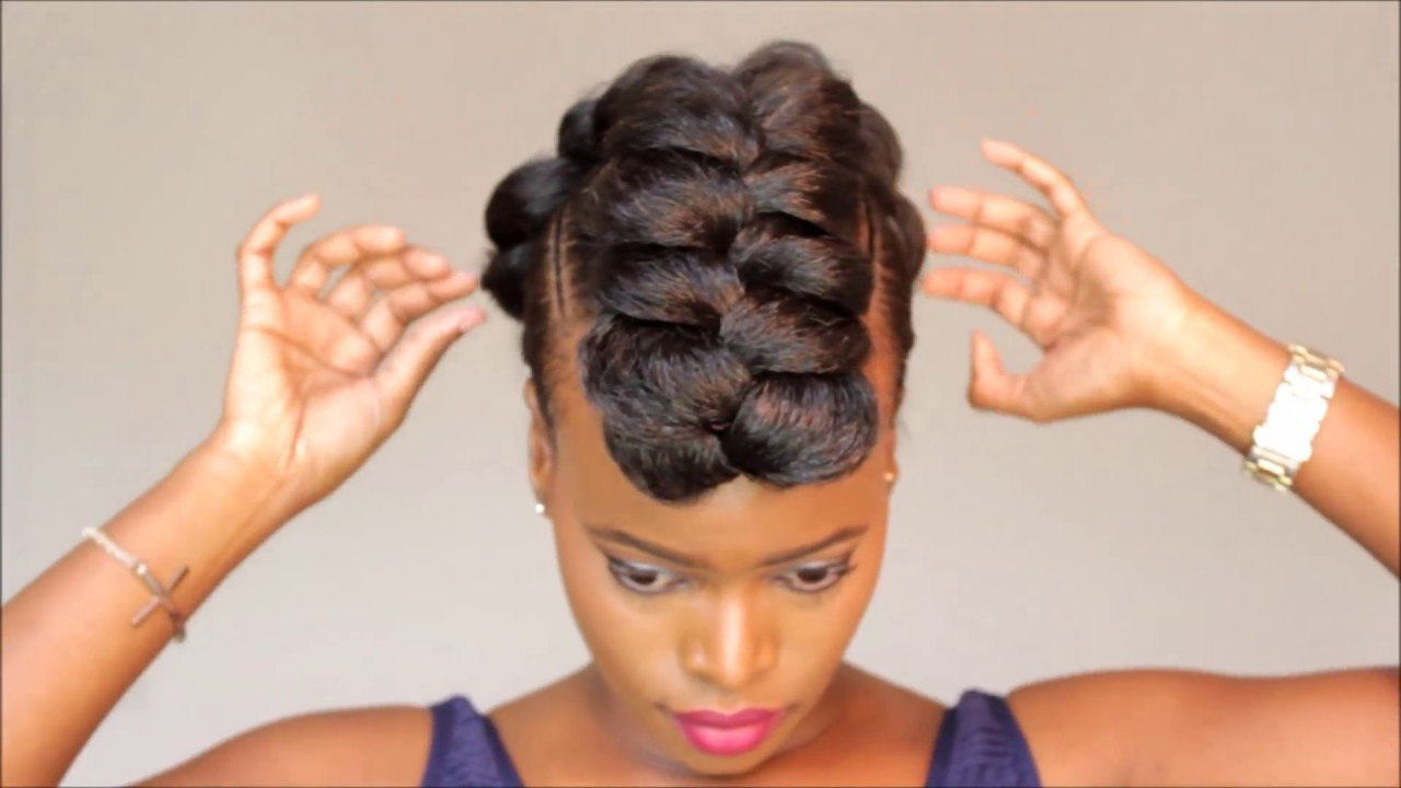 New Braided Mohawk Protective Style Updo Youtube Ideas With Pictures