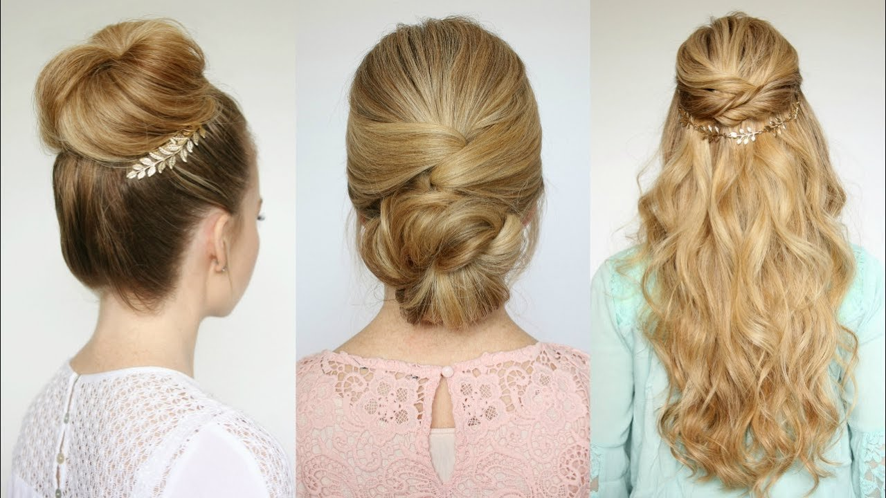 New 3 Easy Prom Hairstyles Missy Sue Youtube Ideas With Pictures