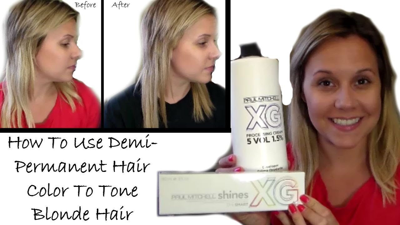 New How To Use Demi Permanent Hair Color To Tone Blonde Hair Ideas With Pictures