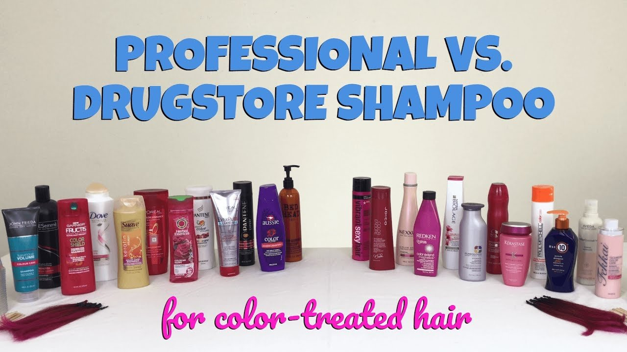 New Professional Vs Drugstore The Best Shampoo For Color Ideas With Pictures