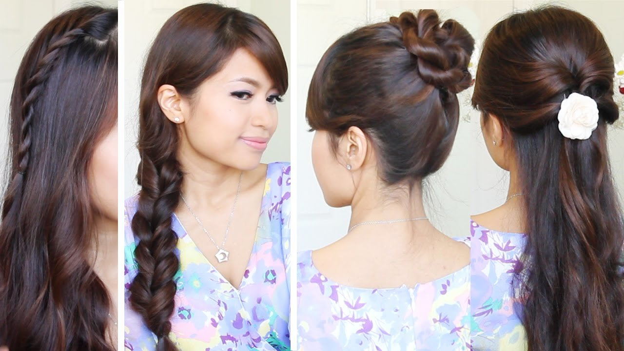 New Quick Easy Back To School Hairstyles Hair Tutorial Ideas With Pictures