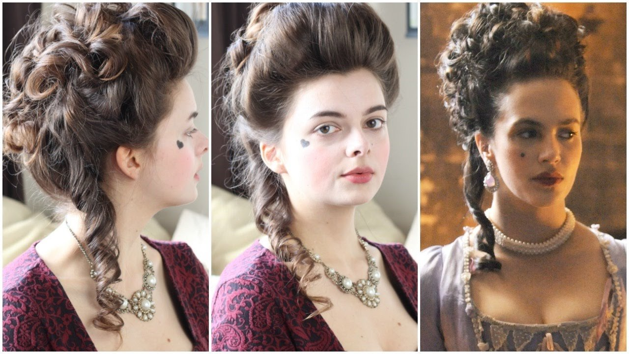 New 18Th Century Hair Tutorial Hulu Harlots Youtube Ideas With Pictures