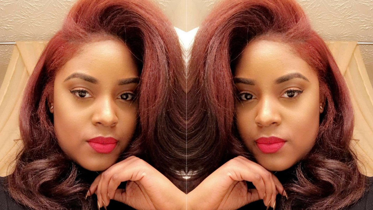 New I Dyed My Relaxed Hair Youtube Ideas With Pictures