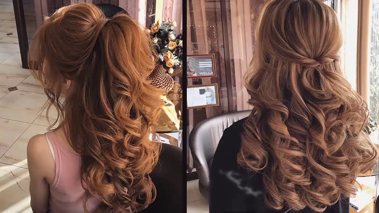 New Curly Bridal Hairstyles For Long Hair Tutorial 2018 Youtube Ideas With Pictures