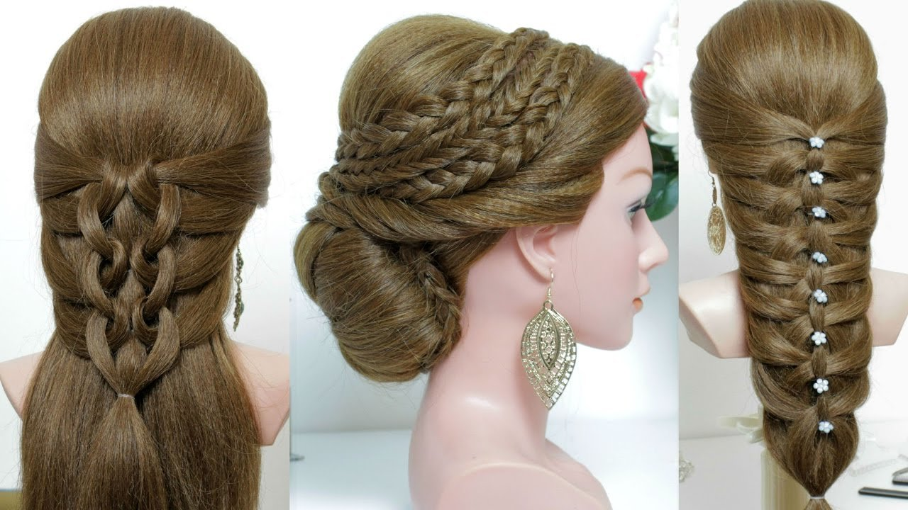 New 3 Cute And Easy Hairstyles For Long Hair Tutorial Youtube Ideas With Pictures