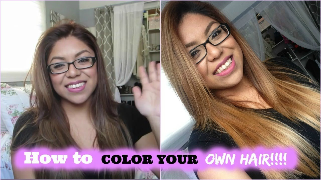 New How To Color Dye Your Own Hair Youtube Ideas With Pictures