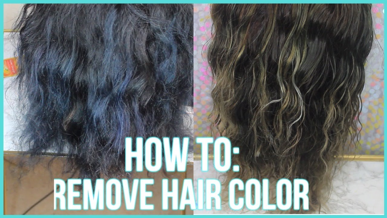 New How To Remove Color From Hair 3 Methods 2016 Youtube Ideas With Pictures