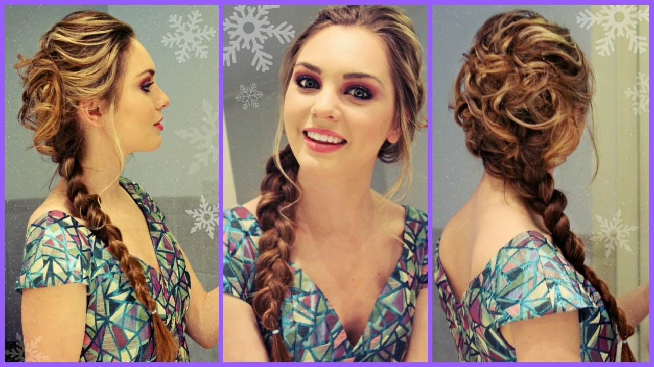 New Elsa From Frozen Inspired Hair Makeup Dress Get Ready Ideas With Pictures