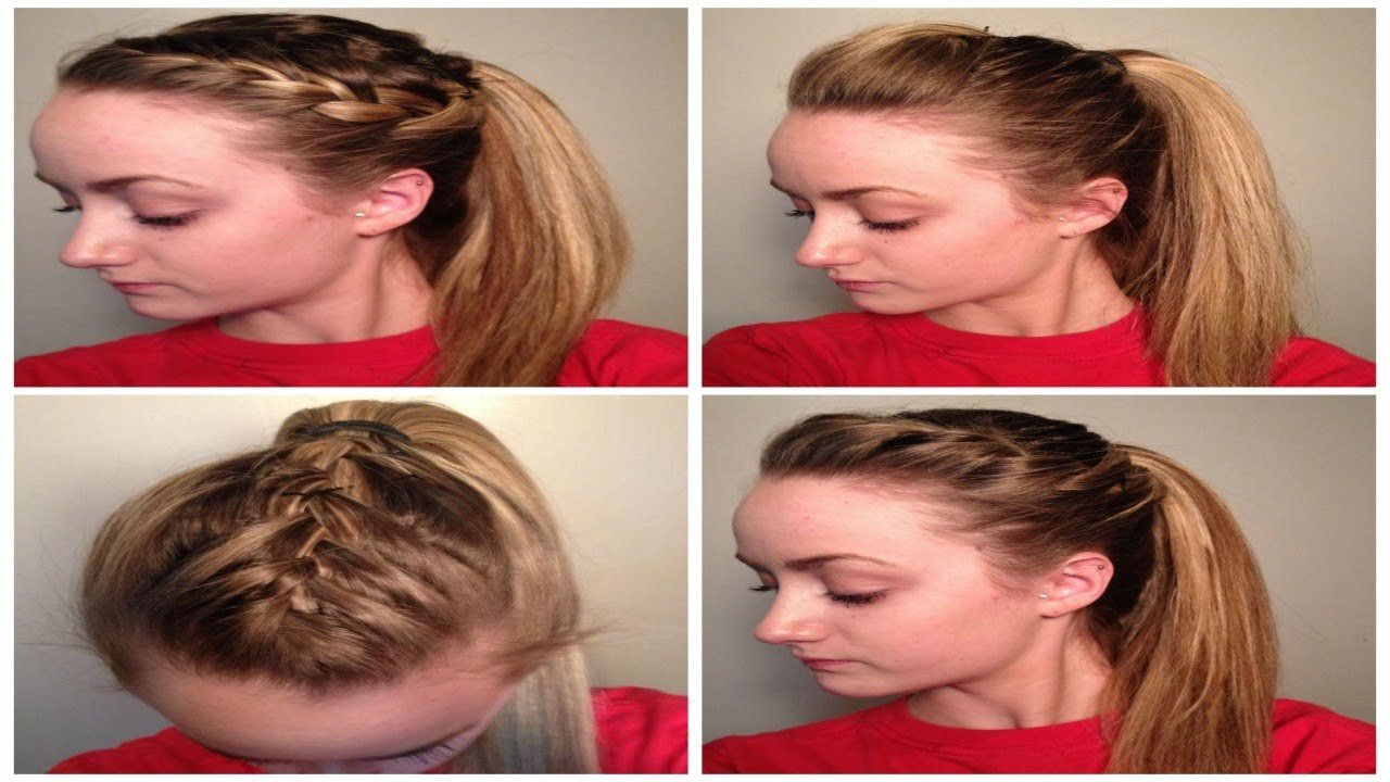 New 4 Quick Easy Cute Sporty Hairstyles ♡ Youtube Ideas With Pictures